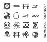 futuristic transportation icon... | Shutterstock .eps vector #686520997