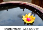 Floating Flower Candle On Wate...