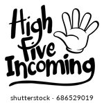 word expression for high five... | Shutterstock .eps vector #686529019