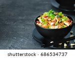 stir fried tofu with cashew ... | Shutterstock . vector #686534737