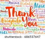 thank you word cloud in... | Shutterstock .eps vector #686537647