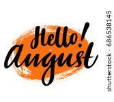 greeting card with phrase hello ... | Shutterstock .eps vector #686538145