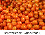 tomatoes on the market | Shutterstock . vector #686539051