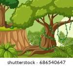 background scene with many... | Shutterstock .eps vector #686540647