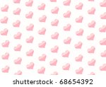 horizontal valentine background ... | Shutterstock . vector #68654392