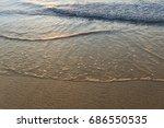 beautiful sunrise of the black... | Shutterstock . vector #686550535