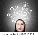 close up of a head of a teen... | Shutterstock . vector #686551411