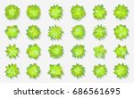 trees top view. different... | Shutterstock .eps vector #686561695