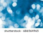 blue bokeh abstract light... | Shutterstock . vector #686564965