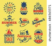 summer badge logo seasonal sale ... | Shutterstock .eps vector #686565571