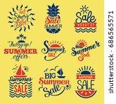 summer badge logo seasonal sale ... | Shutterstock .eps vector #686565571