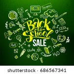 back to school sale lettering... | Shutterstock . vector #686567341