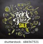 back to school sale lettering... | Shutterstock . vector #686567521