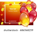 autumn background with balloons ... | Shutterstock .eps vector #686568259