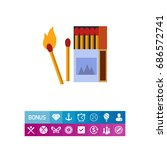 burning matches icon | Shutterstock .eps vector #686572741