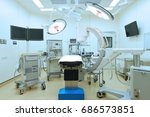 equipment and medical devices... | Shutterstock . vector #686573851