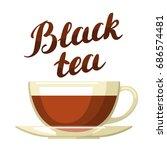 black tea. illustration with... | Shutterstock .eps vector #686574481