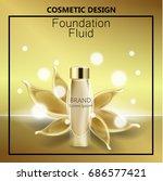 glamorous foundation ads  glass ...   Shutterstock .eps vector #686577421