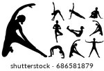 Vector  Isolated Silhouette...