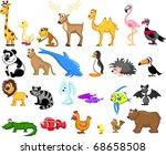 wide range of animals | Shutterstock .eps vector #68658508