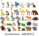 extra large set of animals... | Shutterstock .eps vector #68658511