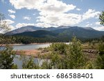 Lake in Colorado with view of Pikes Peak