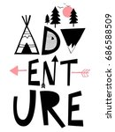 adventure slogan different ... | Shutterstock .eps vector #686588509
