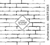 grunge style brick wall texture | Shutterstock .eps vector #686591065
