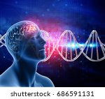 3d medical background with male ... | Shutterstock . vector #686591131