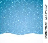 snowing background. vector... | Shutterstock .eps vector #686591869