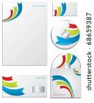Stock vector ribbon business template design 68659387