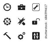 set of 9 editable toolkit icons....