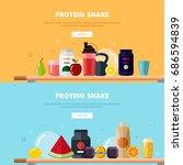 flat design vector illustration ... | Shutterstock .eps vector #686594839
