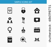 set of 12 editable amour icons. ...