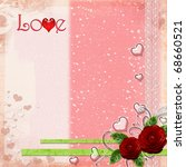 wedding greeting card  with... | Shutterstock . vector #68660521