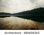 herbert lake with forest lake... | Shutterstock . vector #686606365