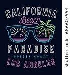 80's style vintage print design ... | Shutterstock .eps vector #686607994