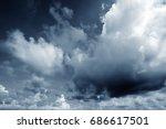 background of dark clouds... | Shutterstock . vector #686617501