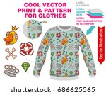 vector sublimation print for... | Shutterstock .eps vector #686625565