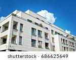 modern  luxury apartment...   Shutterstock . vector #686625649