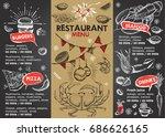 christmas restaurant brochure ... | Shutterstock .eps vector #686626165