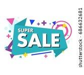 sale banner  big sale. discount ... | Shutterstock .eps vector #686632681