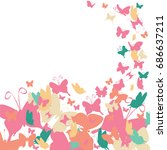 multi colored butterfly ...   Shutterstock .eps vector #686637211