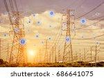 industry 4.0 concept  smart... | Shutterstock . vector #686641075
