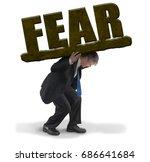 sad man in business suit...   Shutterstock . vector #686641684