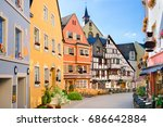 the burgstrasse in bernkastel... | Shutterstock . vector #686642884