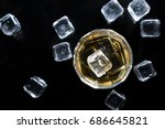 view from top  close up whiskey ...   Shutterstock . vector #686645821