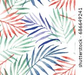 bright seamless pattern with... | Shutterstock . vector #686649241