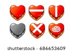 mobile game 2d assets   candy... | Shutterstock .eps vector #686653609