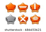 mobile game 2d assets   candy... | Shutterstock .eps vector #686653621